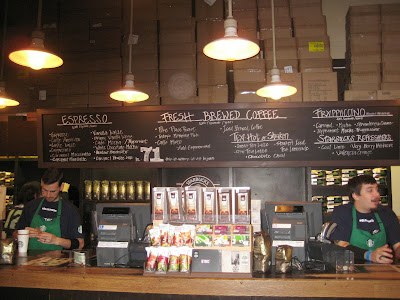 Inside of the original Starbucks