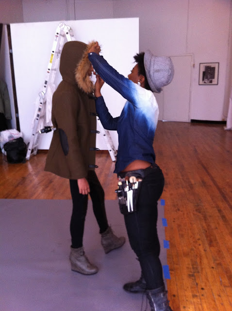 Behind the scenes on a photo shoot with photographer Bryan Whitely & stylist Jessica Moazami shooting model Ramera