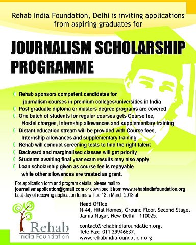 journalism scholarships These scholarships of up to $2,500 will be awarded to students pursuing careers in print, broadcast, online and visual journalism college-bound high school seniors, college undergraduates and graduate students are.