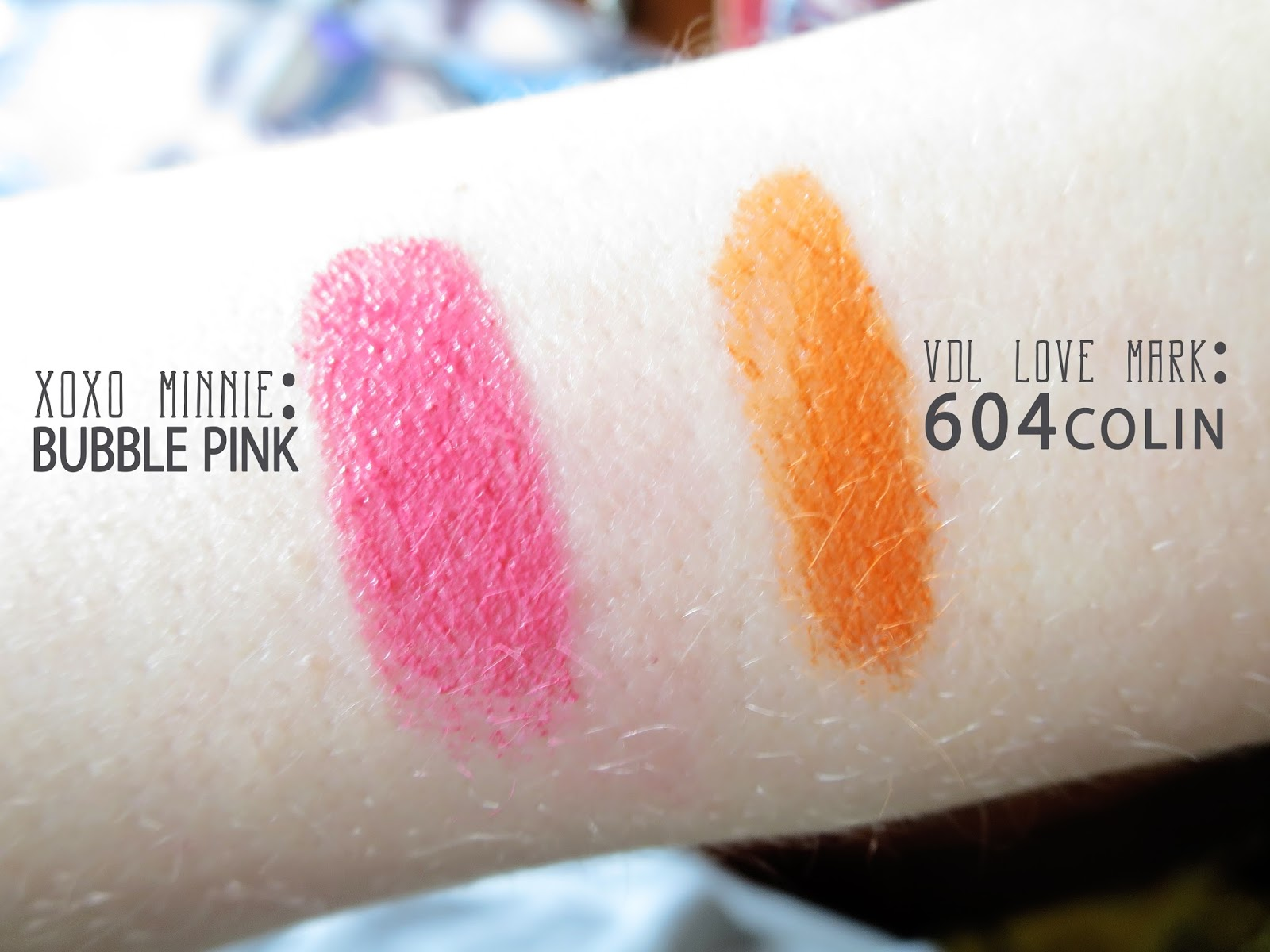 XOXO minnie VDL love mark swatches
