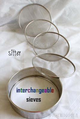 sifter with interchangeable sieves