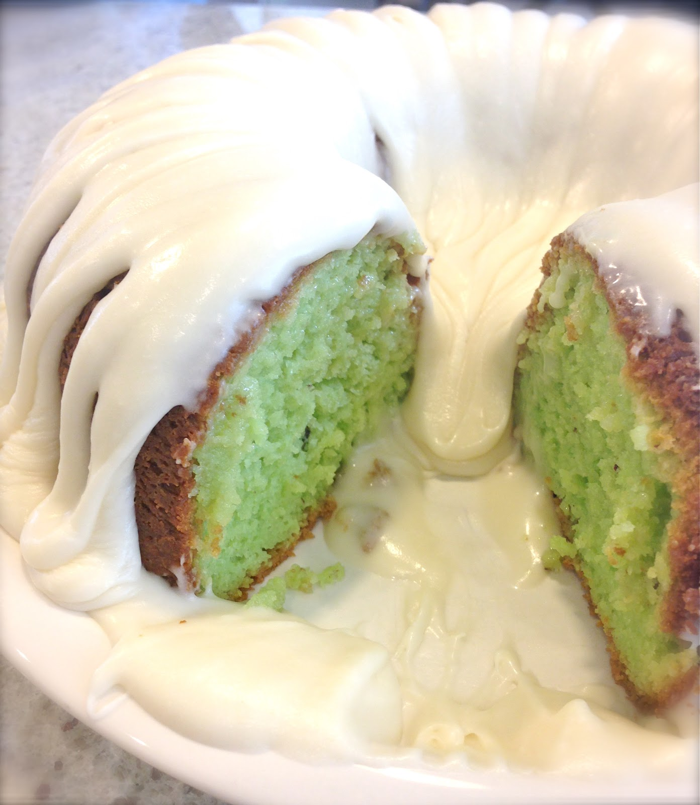 Kuki's Kookbook: Pistachio Bundt Cake with Cream Cheese ...