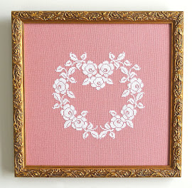 French Rose Heart Pattern