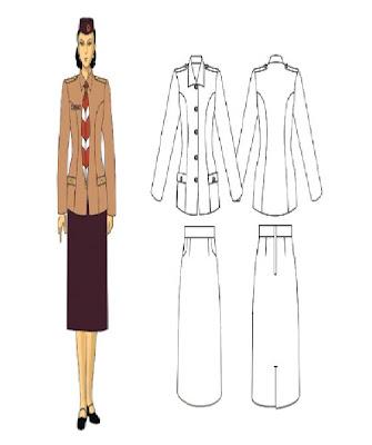 11 pakaian seragam upacara anggota dewasa putri