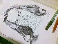 Luciana Leal - desenho com caneta esferográfica nº3