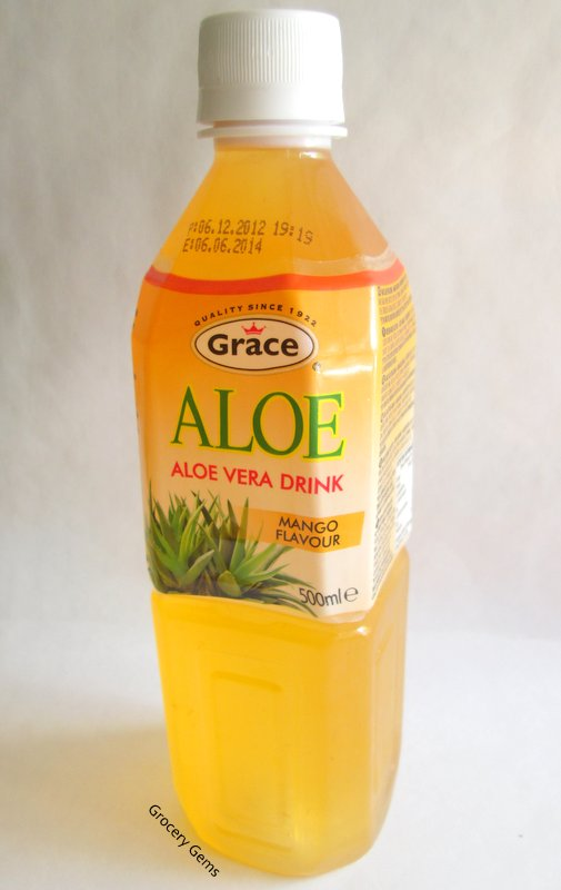 grocery gems grace aloe vera drink mango. Black Bedroom Furniture Sets. Home Design Ideas