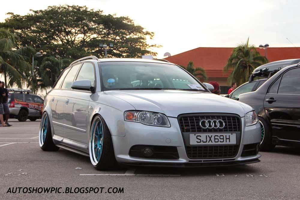 Audi A4 Avant HellaFlush Singapore front