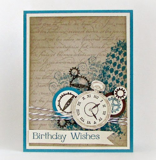 Timeless Masculine Birthday Card | Stampingville #rubberstamping #papercrafts #StampinUp