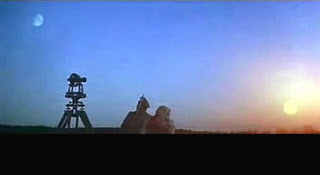 Dersu Uzala, A panoramic view of the Tundra, Sun and Moon in one single frame, Dersu Uzala and Captain Arseniev, Best Foreign Picture Oscar winning Russian Adevnture Drama Film, Directed by Japanese master filmmaker Akira Kurosawa