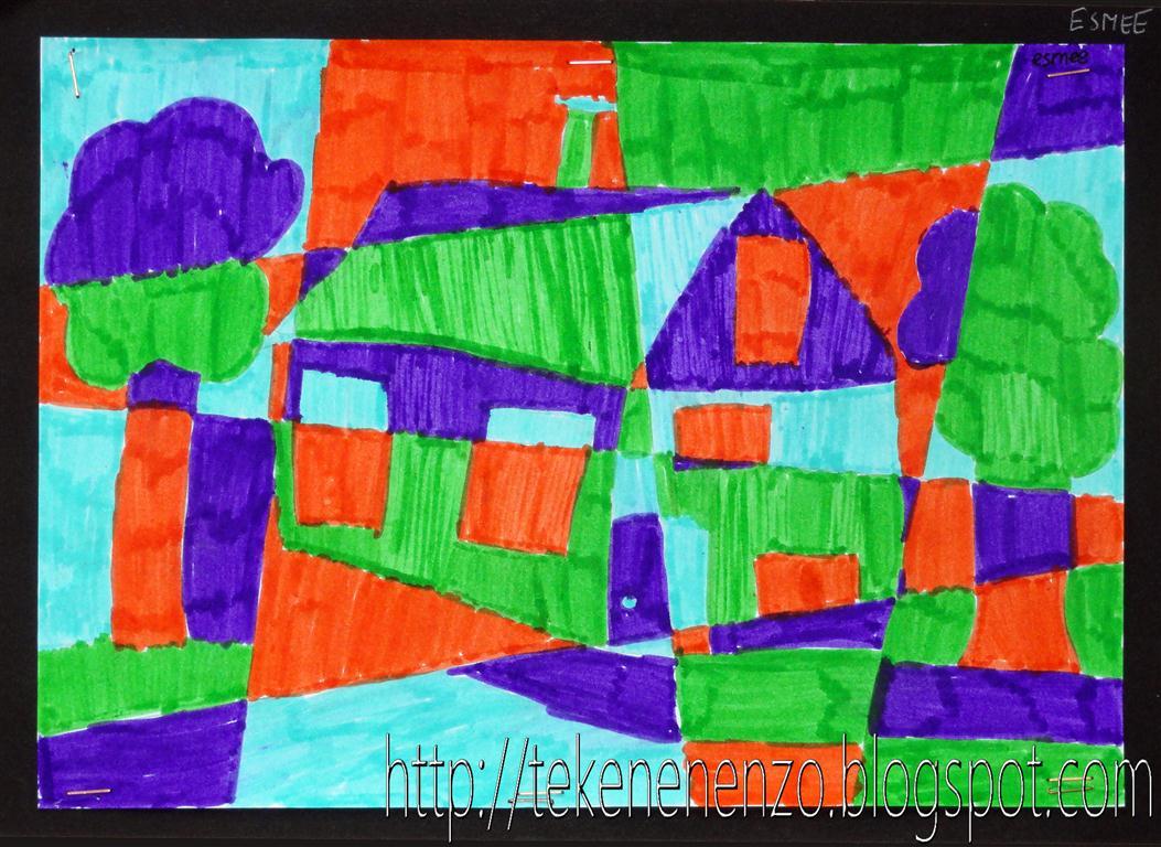 Tekenen en zo huis in kubistische stijl for Huizen tekenen