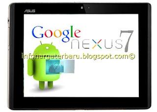 Harga Google Nexus 7 Tablet Spesifikasi 2012