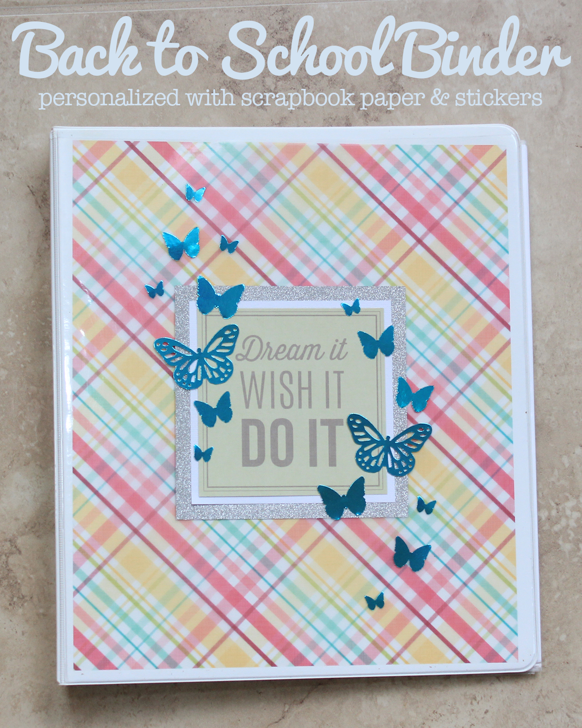 Personalized Back To School Binder by Juliana Michaels featuring 3 Birds Design Midday Medley and Graceful Season Paper Collections