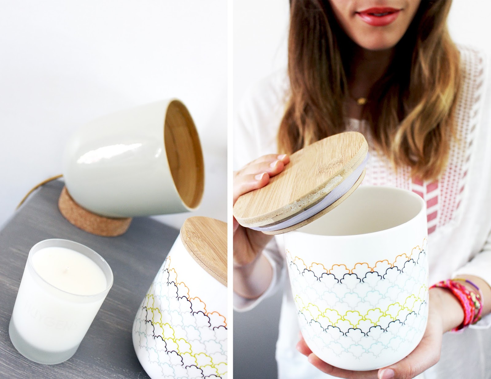 Pot en porcelaine vintage
