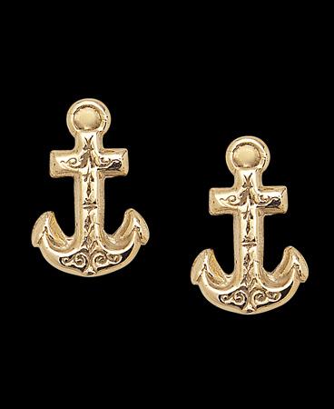 Gold Anchor Earrings6