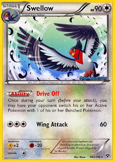 Swellow Pokemon X and Y Card