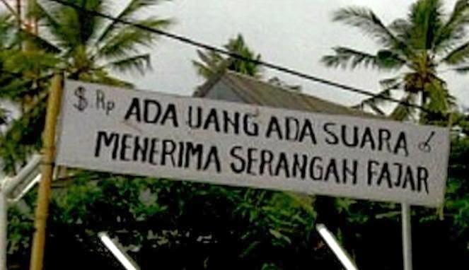 """PUISI POLITIK PEMILU BAHASA JAWA """"Tanpani Duite"""""""