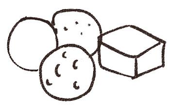 チョコレート・トリュフのイラスト 線画