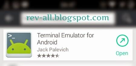 Ikon Terminal Emulator - aplikasi emulator untuk android agar dapat melakan perintah seperti di command prompt windows (rev-all.blogspot.com)