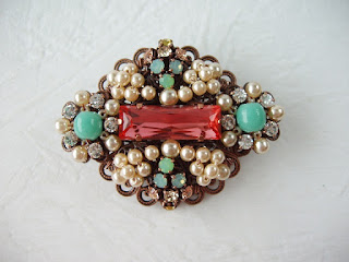 padparadscha swarovski lucite green pearl crystal