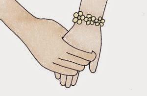 Cinta ingin selalu bergandengan tangan