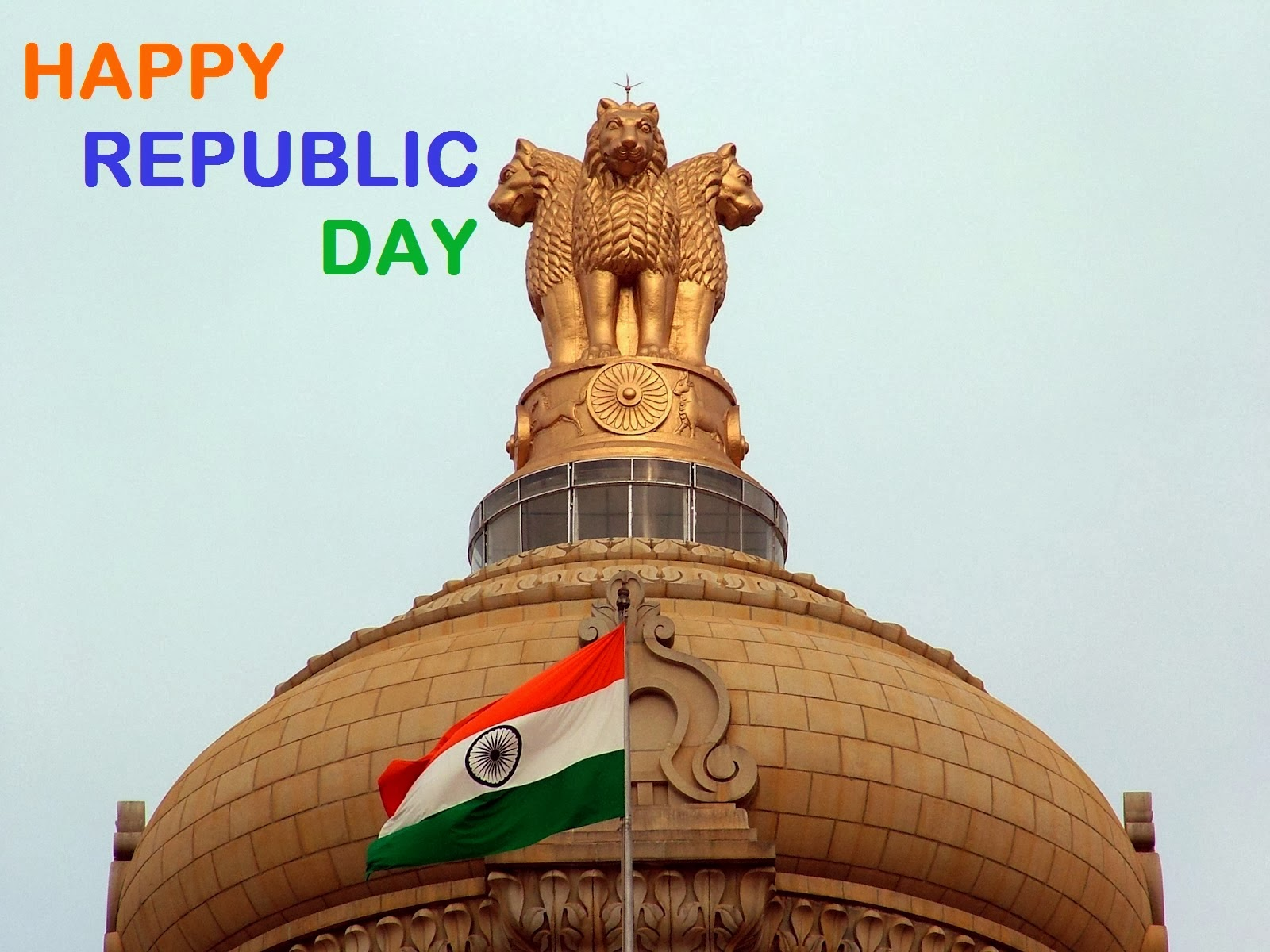 Happy Republic Day 2014 Asok chakar or indian flag