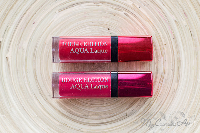 Aqua Laque de Bourjois: Red my lips y Fuchsia Parché
