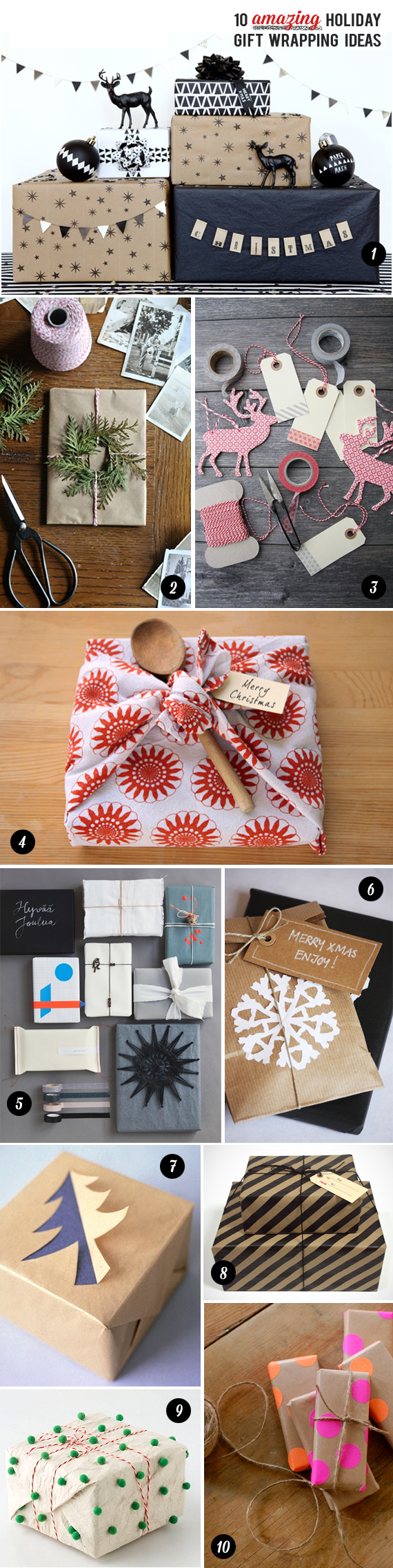 10 Amazing Holiday Gift Wrapping Ideas // Bubby & Bean