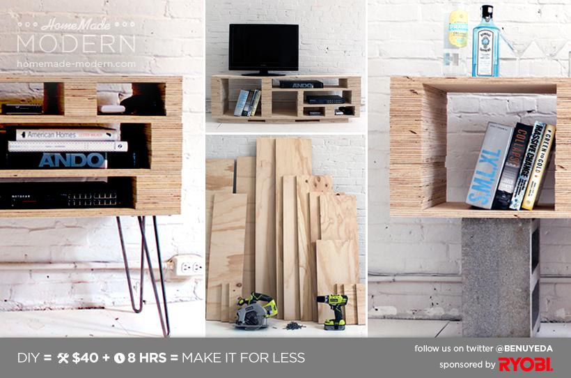 Beliebt Initiales GG  : DIY : fabriquer un meuble TV QG89
