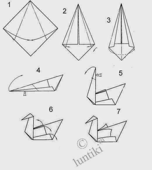 how to make a swan origami moving origami