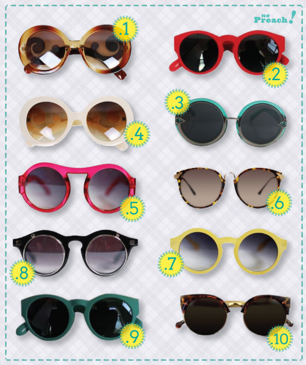 Whishllist: 10 óculos de armação redonda!