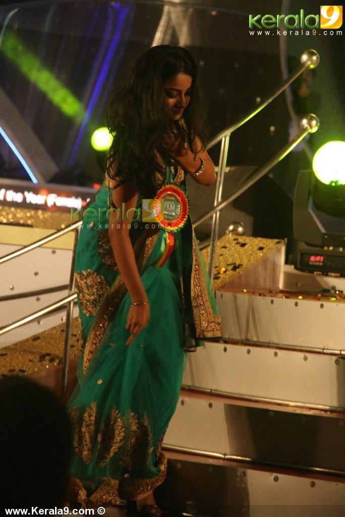 Pramod hot show in saree at Amrita TV Film Awards 2013 held at Cochin