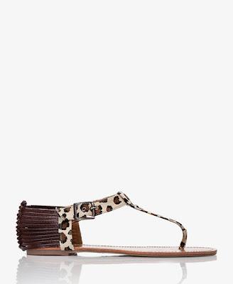 Forever 21 Leopard Print Thong Sandal