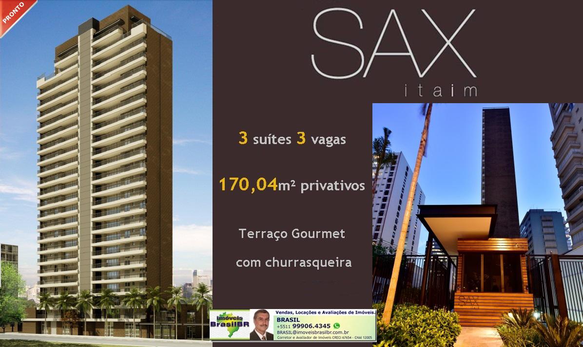 SAX Itaim - Apartamentos de 170,04m² -3 suítes, 3 vagas no Itaim, São Paulo, SP, Brasil