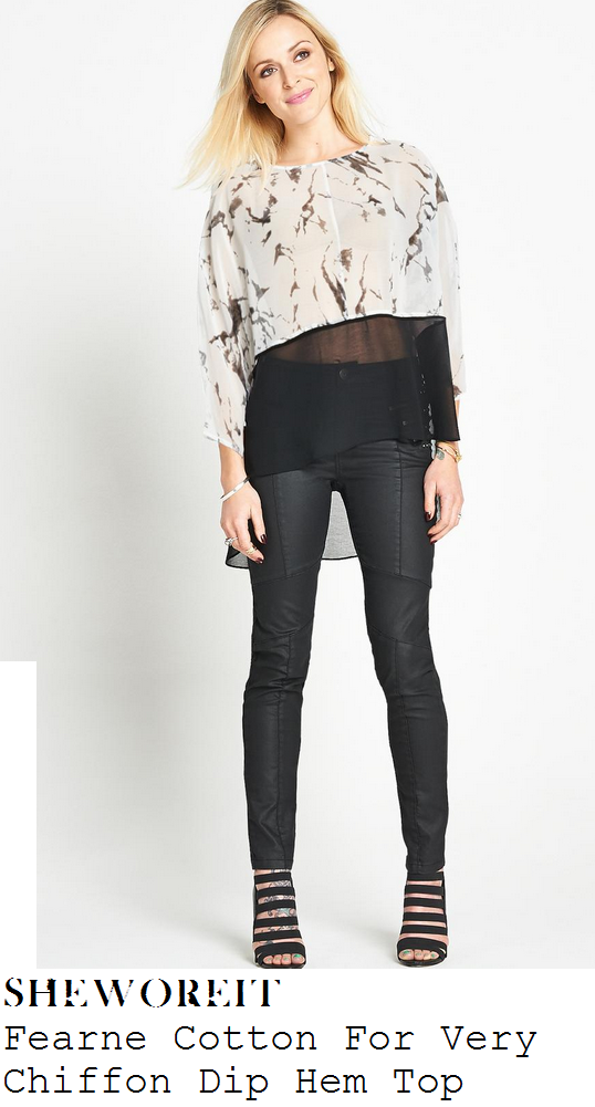 fearne-cotton-white-and-black-marble-print-sheer-panel-three-quarter-sleeve-top