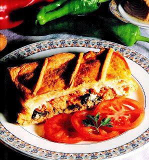 Receta de cocina fácil - empanada de atún española