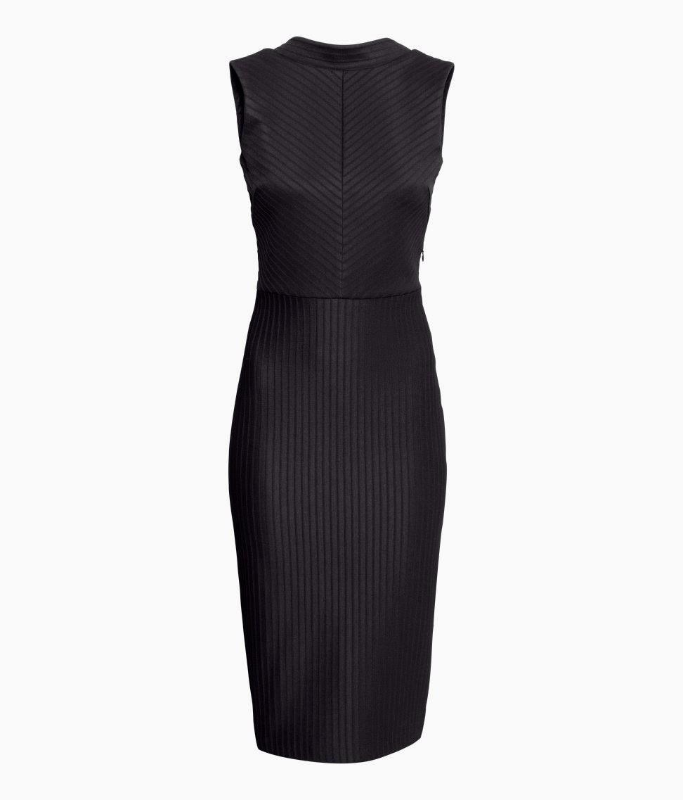 hm black dress, lined black dress, 2014 party dress in black,