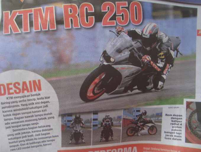 Catatan Performa KTM RC250 - Akurasinya Afgan!