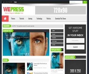 Share WePress Responsive Blogger Template Tạp chí 2015 mới nhất