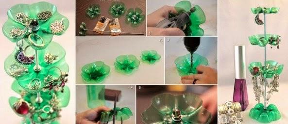 Tempat perhiasan dari botol plastik