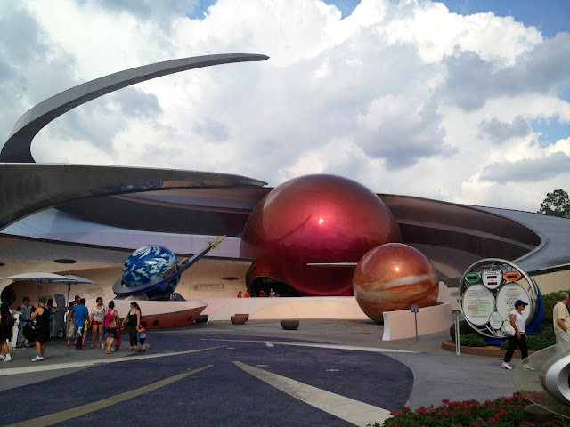 Exterior of Epcot's Mission: SPACE ride