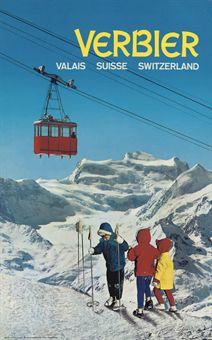Verbier Vintage Ski Poster