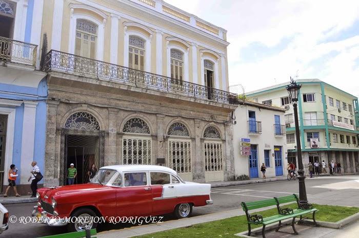 Fachada del Museo Farmacéutico Ernesto Triolet, en la ciudad de Matanza, Cuba.
