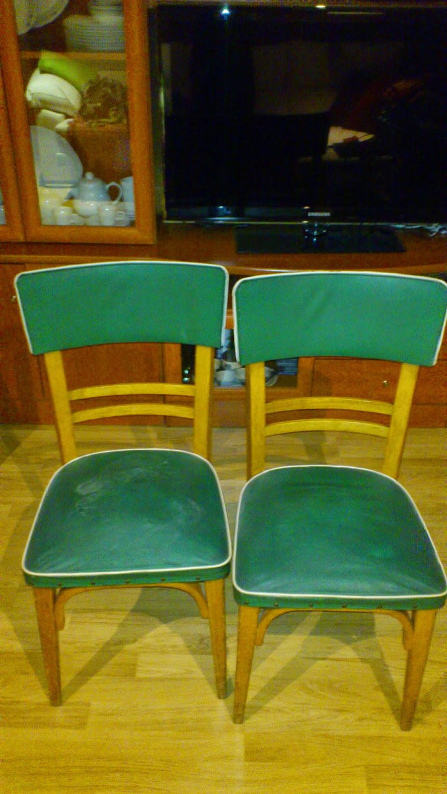 MADERA DE MINDI: Tapizando y modernizando: De unas sillas viejas a ...