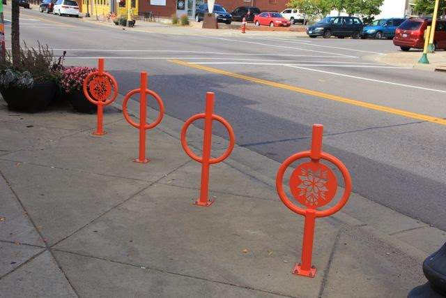 bicycle racks (hitching posts?)