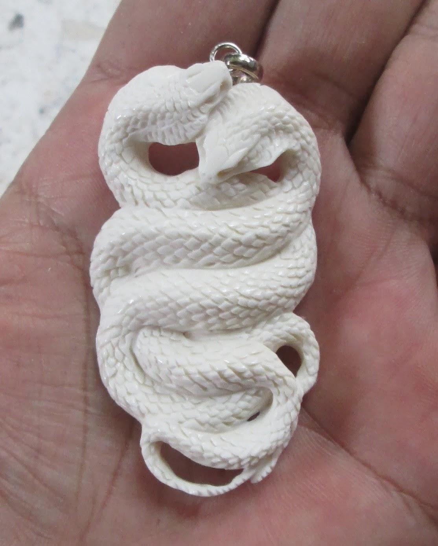 Cobra Snake Bone Carving Pendant