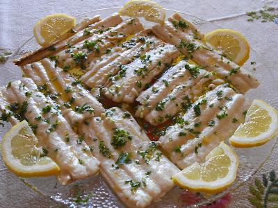 filetti di pesce spatola al limone