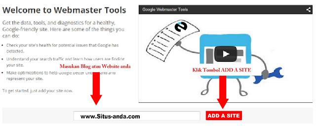add a site tambahkan situs google webmaster tool tutorial - echotuts