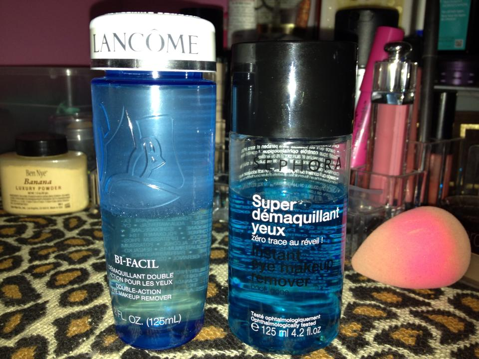 Denise Chavez : Sephora vs Lancôme Eye Makeup Remover
