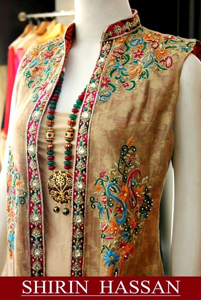shirin hassan celestial kurta summer collection2014 for