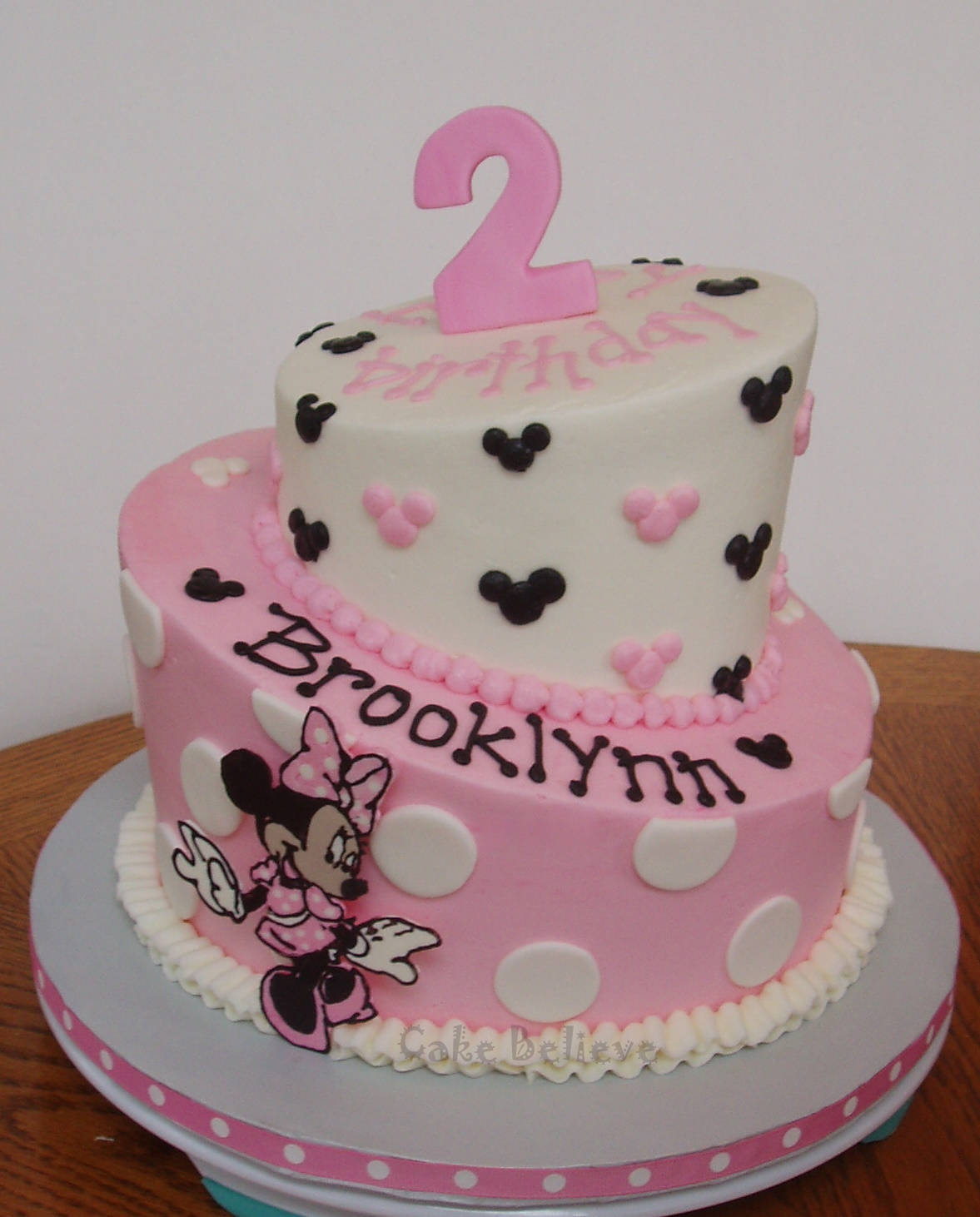 Birthday Cake With Minnie Mouse Decor Image Inspiration of Cake